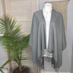 Sweaters - Super Soft Thin Knit Cozy Fringe Hem Wrap Sweater